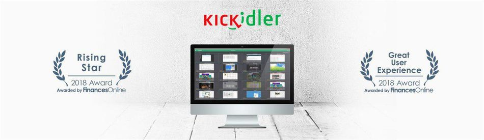 FinancesOnline directory acknowledged Kickidler employee monitoring software with Great User Experience and Rising Star awards